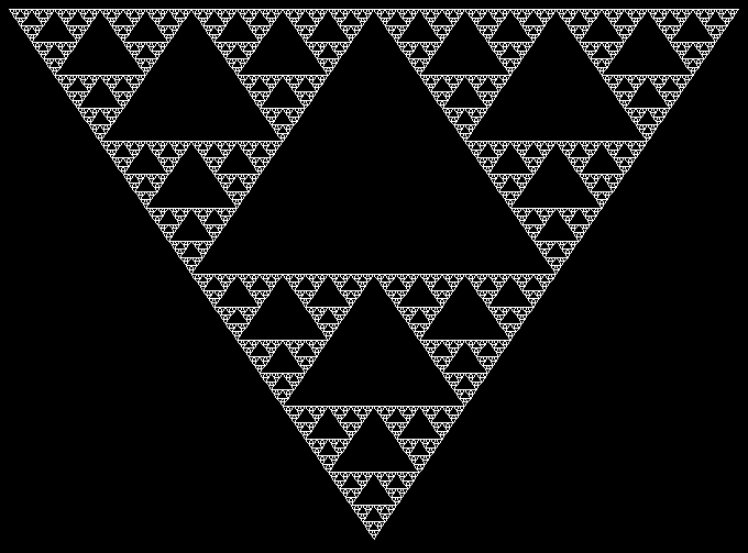 Python-created image of Seirpinski Triangle